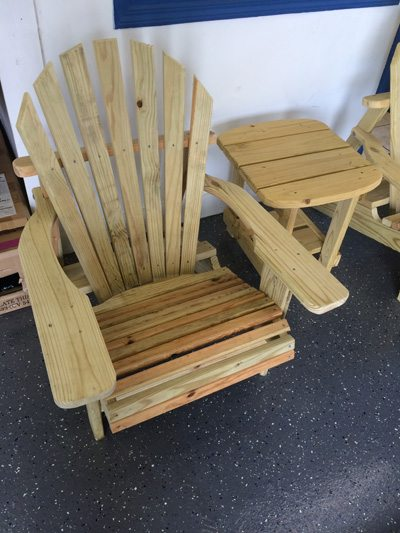 Adirondack Chairs & Table