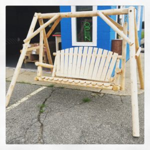 #Rustic #LawnSwing #westMichigan #GrandRapids #WoodenSwing